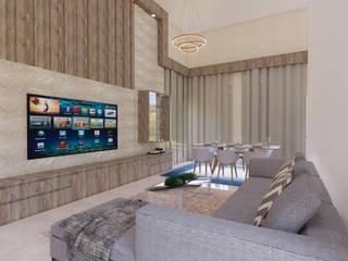 Livings de estilo moderno de Monteiro arquitetura e interiores Moderno