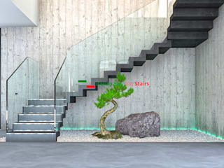 de Italian Fashion Stairs Moderno