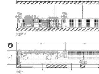 S. in the Garden, jardines de verdad Balkon, Beranda & Teras Gaya Mediteran