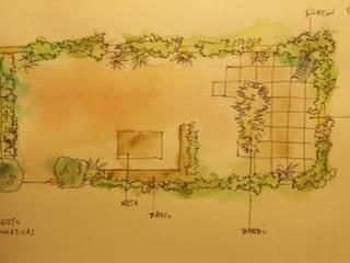 S. in the Garden, jardines de verdad Balkon, Beranda & Teras Modern