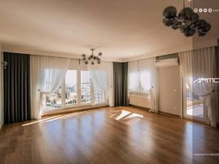 Armoni Perde Tasarım หน้าต่างและประตูผ้าม่าน ไหม Grey