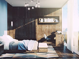 Mario Bernaudo Scandinavian style bedroom Wood