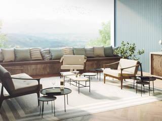 Mario Bernaudo Scandinavian style living room Beige