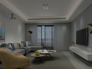 Modern living room by Steven palta diseñador interiores Modern