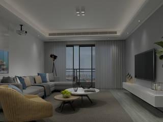Modern Living Room by Steven palta diseñador interiores Modern