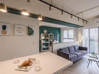 享受陽光通透的日子 實木百葉簾 空間構成:驊揚室內裝修設計 MSBT 幔室布緹 Modern Dining Room Metal Metallic/Silver