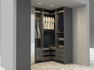 Ramazan Yücel İç mimarlık  – Giyinme odası: minimalist tarz , Minimalist