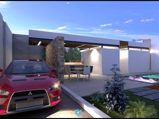 Area Recreativa ISS de Geometrica Arquitectura Moderno