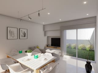 Salones minimalistas de ARBOL Arquitectos Minimalista