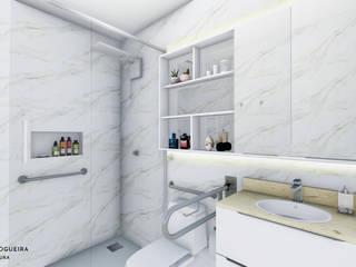 Jordana Nogueira Arquitetura Kamar Mandi Klasik MDF White