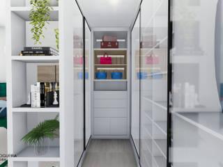 Jordana Nogueira Arquitetura Ruang Ganti Modern MDF White