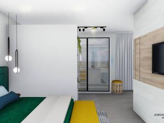 Jordana Nogueira Arquitetura Kamar Tidur Modern MDF Yellow