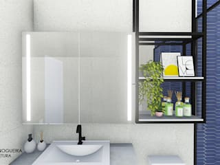 Jordana Nogueira Arquitetura Kamar Mandi Modern MDF White