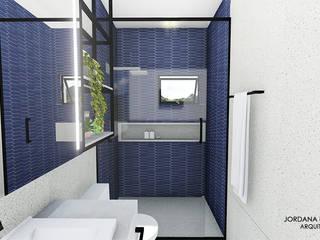 Jordana Nogueira Arquitetura Kamar Mandi Modern Kaca Black