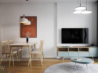 Thiết kế nội thất chung cư 54m2 2pn tại Vinhomes Smart City 79 triệu Công ty nội thất ATZ LUXURY Phòng khách