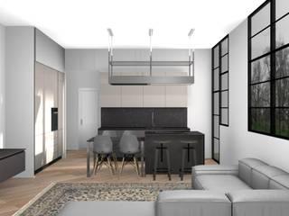 Appartamento a Milano L&M design di Marelli Cinzia Cucina attrezzata Bianco
