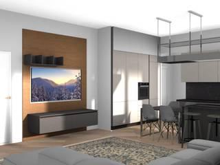 Appartamento a Milano L&M design di Marelli Cinzia Soggiorno moderno Grigio