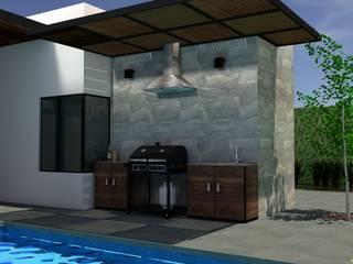 Terraza Club de Golf La Loma Balcones y terrazas minimalistas de Arquitectura Ecologista Minimalista