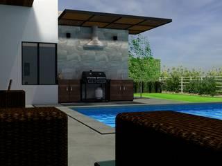 Terraza Club de Golf La Loma de Arquitectura Ecologista Minimalista