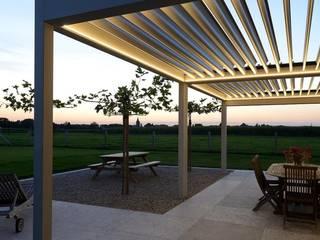 Bioclimatic Pergola / Rolling Roof Pergola İNORMA YAPI SİSTEMLERİ Modern Kış Bahçesi Aluminyum/Çinko Turkuaz
