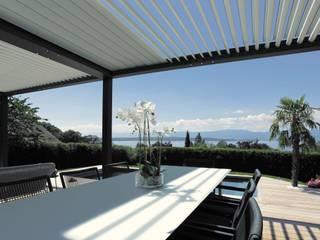 Bioclimatic Pergola / Rolling Roof Pergola İNORMA YAPI SİSTEMLERİ Modern Kış Bahçesi Aluminyum/Çinko Siyah
