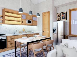 Rancang Reka Ruang KitchenCabinets & shelves Wood Wood effect