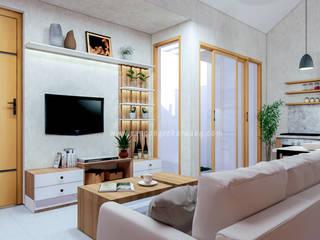 Rancang Reka Ruang Living roomSofas & armchairs Beige