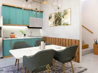 Rancang Reka Ruang Kitchen units Multicolored