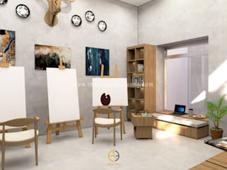 Rancang Reka Ruang Study/officeAccessories & decoration Grey