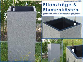 Blumenkübel und Pflanzkästen mit intelligenter Bewässerung: modern  von Mineralit - Mineralgusswerk Laage GmbH,Modern