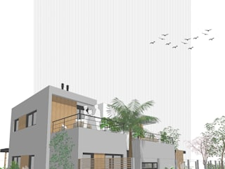 D4-Arquitectos Single family home Wood Grey