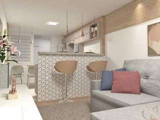 Laene Carvalho Arquitetura e Interiores Comedores de estilo minimalista Acabado en madera