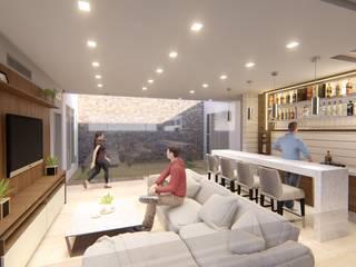 BAR DESIGN A41 Estudio C.A. Salas de entretenimiento de estilo moderno Beige