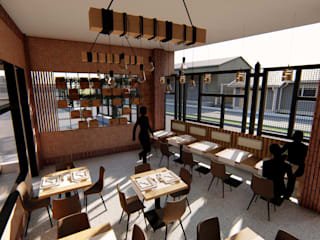 TRATTORIA NOSTRA CHOCO A41 Estudio C.A. Restaurantes Ladrillos Marrón