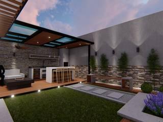 BUTTO'S TERRAZA A41 Estudio C.A. Balcones y terrazas de estilo minimalista Gris