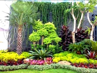 Tukang Taman Jakarta Садовые сараи Камень Многоцветный