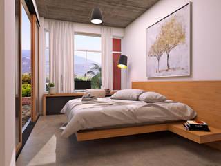 Bungalow Huayapam Dormitorios modernos de ARQUITECTOS AJ Moderno
