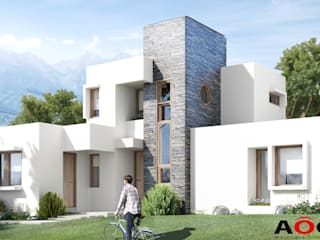CASA CLAUDIO PICHARA Casas de estilo mediterráneo de AOG Mediterráneo