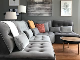 A interiorismo by Maria Andes Modern living room Grey