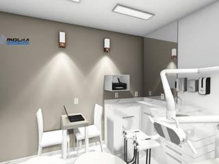 Projeto da Clínica Allegre Odontologia Padilha Arquitetura e Urbanismo Edifícios comerciais modernos
