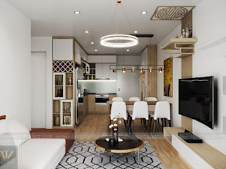 Combo nội thất chung cư 3 PN Vinhomes Smart City chỉ từ 79 triệu VNĐ Công ty nội thất ATZ LUXURY Living roomStools & chairs