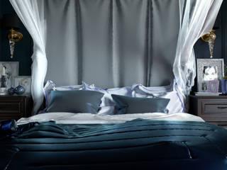 2-х комнатные апартаменты на Софийской набережной STUDIO 57 Спальня в классическом стиле