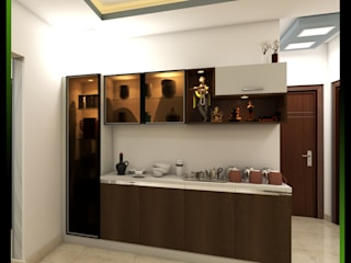 Purva Palm Beach Modern corridor, hallway & stairs by Magnon India Modern