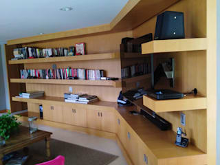 Centro de Entretenimiento Arte y Decoración en Maderas Sala multimediaAccesorios y decoración Derivados de madera Acabado en madera