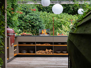 Freiluftküche | the real outdoorkitchen CocinaEstanterías y gavetas