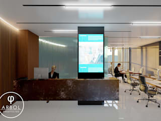 Modern Corridor, Hallway and Staircase by ARBOL Arquitectos Modern