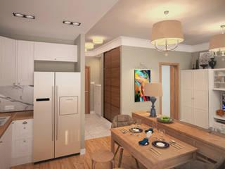 1 комнатная квартира в Коммунарке STUDIO 57 Маленькие кухни