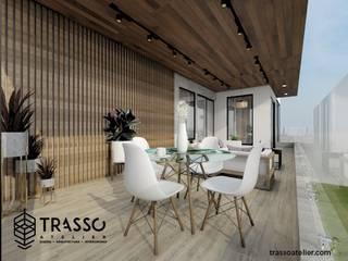 CASA TULTEPEC TRASSO ATELIER Balcones y terrazas modernos