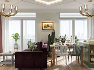 Eclectic style dining room by Дизайн студия Алёны Чекалиной Eclectic