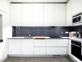 Desenho Branco Dapur Gaya Eklektik